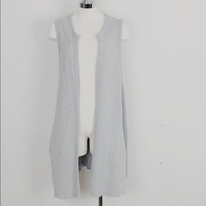 Anthro Moth Gray Sleeveless Long Sweater Vest